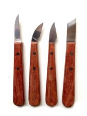 Set of 4 Chip Carving Knives